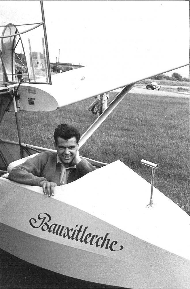 Rhönlerche mit Pilot Georg Seitz