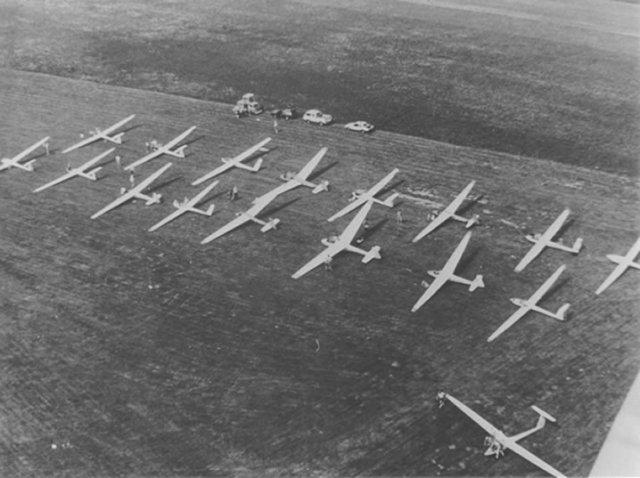 Vergleichsfliegen Startaufstellung 1986